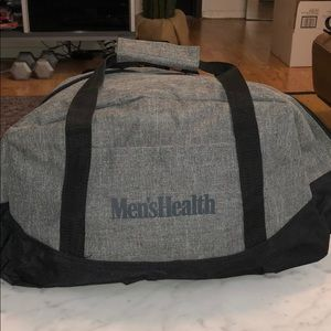 Men's Health grey duffel gym bag